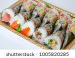 hand roll sushi | Shutterstock . vector #1005820285
