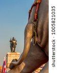 elephant duel statue in...   Shutterstock . vector #1005821035