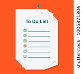 to do list concept. daily... | Shutterstock .eps vector #1005821806