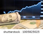 money and graph | Shutterstock . vector #1005825025