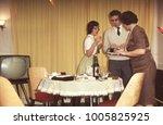 dutch vintage 1950s family... | Shutterstock . vector #1005825925