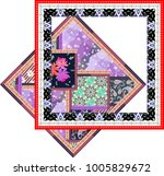 vintage label with elements...   Shutterstock . vector #1005829672