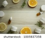 natural cosmetic skincare serum ... | Shutterstock . vector #1005837358