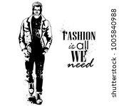 vector man model dressed | Shutterstock .eps vector #1005840988