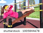 sports and athletics. beautiful ... | Shutterstock . vector #1005844678