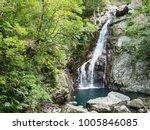 hiji large waterfall in...   Shutterstock . vector #1005846085
