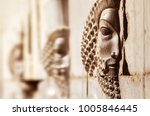 bas relief carved on the walls... | Shutterstock . vector #1005846445