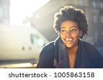 beautiful woman smiling  | Shutterstock . vector #1005863158