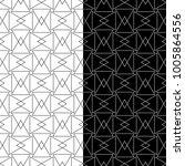 black and white geometric...   Shutterstock .eps vector #1005864556