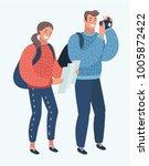 vector cartoon illustration of... | Shutterstock .eps vector #1005872422