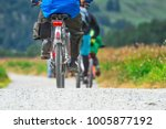 cyclists on a group trip in... | Shutterstock . vector #1005877192