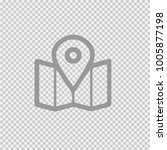 map pointer vector icon eps10.... | Shutterstock .eps vector #1005877198