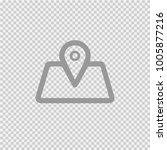 map pointer vector icon eps10.... | Shutterstock .eps vector #1005877216