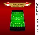 football  soccer  formation... | Shutterstock .eps vector #1005877348