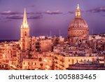 valletta  malta  aerial view... | Shutterstock . vector #1005883465