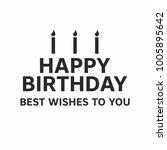 modern birthday greeting card... | Shutterstock .eps vector #1005895642