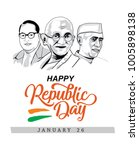 republic day wish design | Shutterstock .eps vector #1005898138