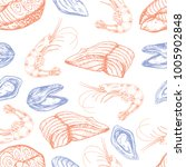 seamless vector pattern with... | Shutterstock .eps vector #1005902848