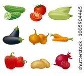 vegetables icon set | Shutterstock . vector #1005904465