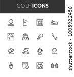 outline black icons set in thin ... | Shutterstock .eps vector #1005922456