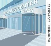 exterior of facade of office... | Shutterstock .eps vector #1005926512