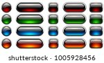 glossy buttons set with... | Shutterstock .eps vector #1005928456