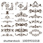 vintage frames  corners ... | Shutterstock .eps vector #1005931018