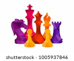 chess colorful figures pieces... | Shutterstock .eps vector #1005937846