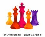Chess Colorful Figures Pieces...