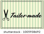 stylish tailor made sign on a... | Shutterstock .eps vector #1005938692