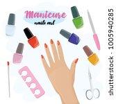 manicure beauty salon. set of...   Shutterstock .eps vector #1005940285