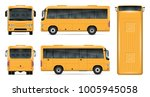 Yellow Bus Vector Mock Up For...
