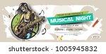 music party banner  flyer ... | Shutterstock .eps vector #1005945832