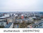 aerial view over old soviet... | Shutterstock . vector #1005947542