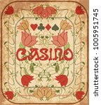 casino poker background in art... | Shutterstock .eps vector #1005951745