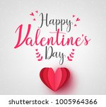 lovely happy valentines day... | Shutterstock .eps vector #1005964366