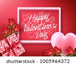 happy valentines day greeting... | Shutterstock .eps vector #1005964372