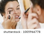 young woman is disappointed... | Shutterstock . vector #1005966778