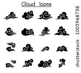 abstract cloud icon set | Shutterstock .eps vector #1005968758