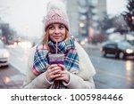 young women on city street... | Shutterstock . vector #1005984466