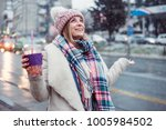 young women on city street... | Shutterstock . vector #1005984502