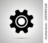gear silhouette  simple black... | Shutterstock .eps vector #1005985168