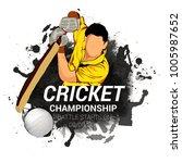 cricket championship batsman... | Shutterstock .eps vector #1005987652