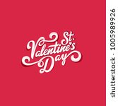st. valentines day text vector... | Shutterstock .eps vector #1005989926