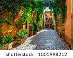 old street in trastevere  rome  ... | Shutterstock . vector #1005998212