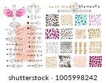 big set of vector handdrawn ... | Shutterstock .eps vector #1005998242