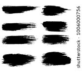 grunge ink brush strokes set.... | Shutterstock .eps vector #1006000756