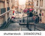 typical montmartre staircase... | Shutterstock . vector #1006001962