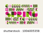 spring poster with flowers and... | Shutterstock .eps vector #1006005358