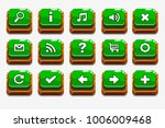 vector wooden square green...